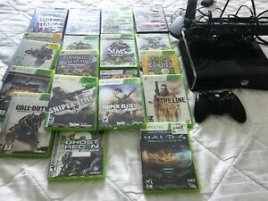 Xbox 360,with games