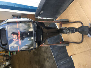 2000 Mercury 15HP four stroke longshaft kicker
