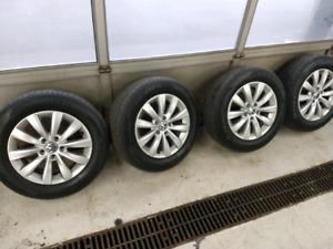 Volkswagen 5x112 factory rims & 4 new tires