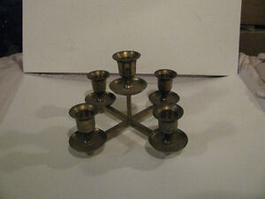 Quantity of Brass Candle Holders