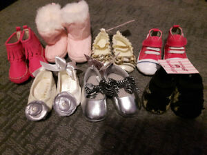 Baby girl shoe lot