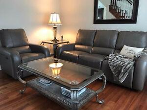 Elran cuir inclinable fauteuil divan et futon dans for Divan et fauteuil
