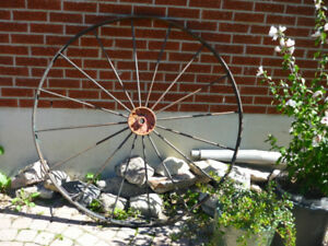 Perfect for Christmas!!!  Antique Cast Iron Wagon Wheels $400.00