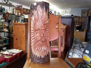 WOOD CARVING GOHST OF THE FOREST ONLY $24.00