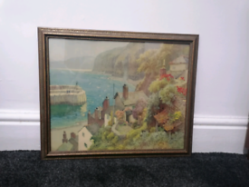 """""""By the Quay"""" E. W. Haslehust 1866-1949 signed watercolour painting."""