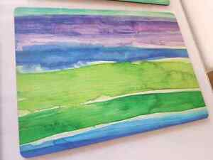 BRAND NEW IN BOX Saks Fifth Avenue watercolor placemats