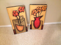 Stretched Canvas Pair of Pictures