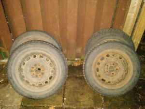 Winter tires on rims ready to use - 205 60 16, 5x114.