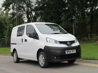 2014 64 NISSAN NV200 CREW COMBI LOW MILEAGE VAN / BUS