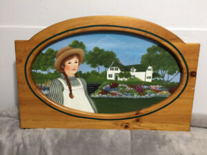 *SIGNED* Oval OIl Painting of 'ANNE of GREEN GABLES' - Oak Frame