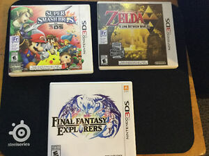 3 jeus 3ds - super smash/zelda/final fantasy
