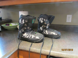 Snowboard boots - 3 pairs, $40 each
