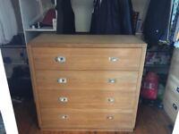Solid oak drawer set