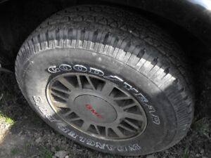 *2000 jimmy spare tire carrier new spare tires too*