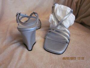 Grey Pearl Semi Heel Size 10