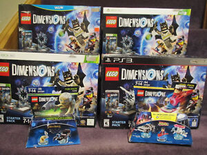 LEGO Dimensions Starter Packs, Fun Packs, Opened - on Choice