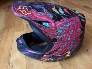 Ensemble/casque  motocross femme