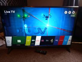 "43"" 4K UHD LG SMART TV WITH REMOTE WE DELIVER"