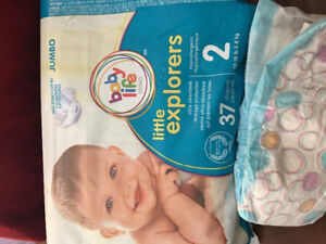 Life Brand-Little Explorers Diapers size 2 (12-18 lbs).