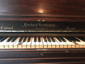 Antique Gerhard Heintzman upright piano for sale
