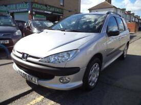 2005 PEUGEOT 206 2.0 HDI DIESEL ESTATE,SERVICE HISTORY, M.O.T TILL FEBRUARY 2019