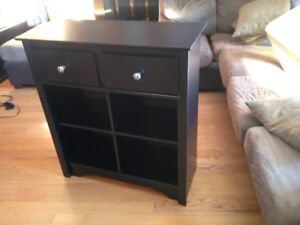Shelf Unit with 2 Drawers on Top