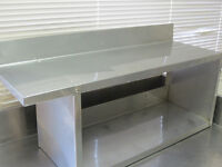 Stainless steel  shelving unit.  Very clean
