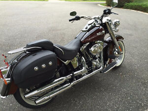 Mint Softail Classic, two tone rootbeer