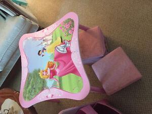 Disney princess table and toy bin Windsor Region Ontario image 3