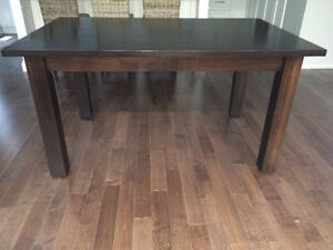 Solid Wormy Maple Harvest Dining Table