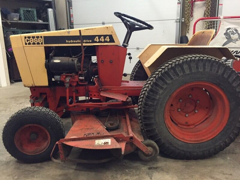 Case 444 garden tractor mower rototiller lawnmowers for Case kijiji