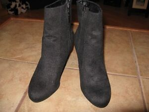 Women's black suede like boots for sale