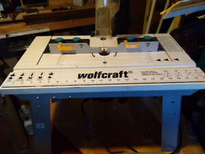 woodcraft router table with black and decker plunge cut router