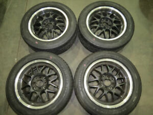 Rare JDM Racing Hart Wheels 4 Lugs  15X6.5J  +43ET / 195/55/15