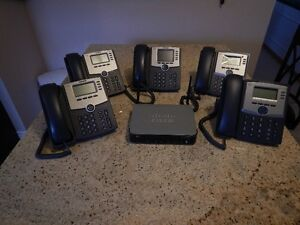 Cisco 320W Business Telephone System with 5 Telephone (Used)