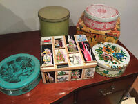 Vintage Metal Tin Containers - Make Me An Offer...
