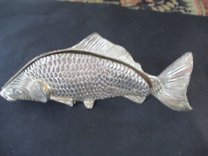 Vintage Silver Plated Fish-Napkin / Letter Holder--Made in Italy