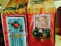 ROSE PETAL COTTAGE large dollhouse playhouse with 4pc furniture