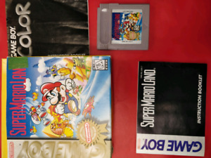 SUPER MARIO LAND FOR GAMEBOY WITH BOX AND INSTRUCTIONS