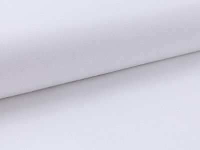 Muster 100% Baumwolle (0,5 m 100% Baumwolle Stoff, Fischgrät Muster, Weiß, strukturiert)