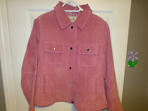 Pink Leather Coat