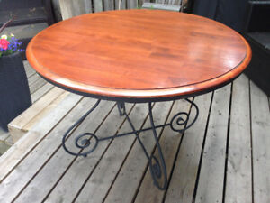 42 inch round table and chairs - Malaysian Wood and metal