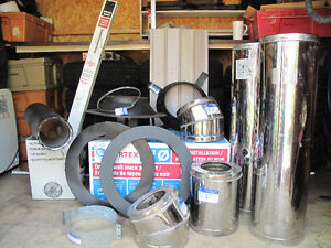 """wood stove pipes 6"""" double wall selkirk stainless chimney pipe"""