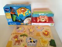 New Vtech Car , wooden puzzle & Xylophone Baby Toddler toys Birth +