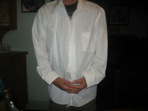 Mens x large white dress shirt