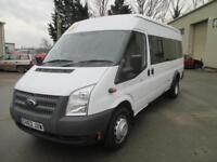 2013 Ford Transit 17 seat mini bus 2.2TDCi EU5 RWD 430 LWB EL 6 sp e/w 1 owner