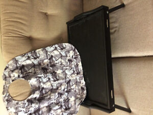 Bed tray with tilt feature/-Adult bib