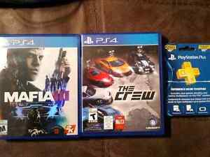 PS4 games & plus card