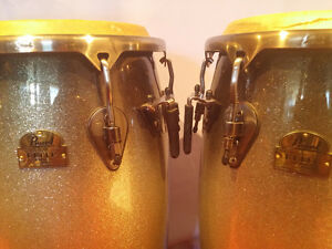 Pearl Elite Series Thai Oak Congas with stand