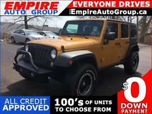 2014 JEEP WRANGLER 4WD * CONVERTIBLE W REMOVABLE HARDTOP